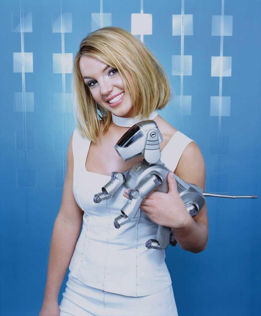 britney with robopuppy