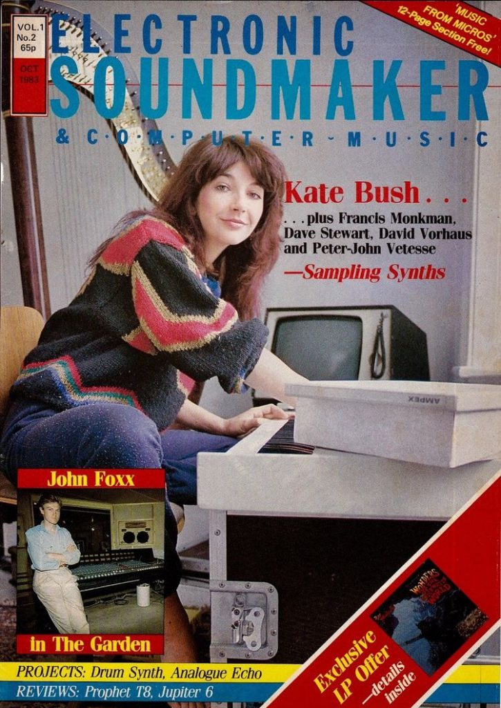 kate bush on computer